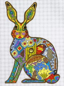 click here to view larger image of Jack Rabbit (hand painted canvases)