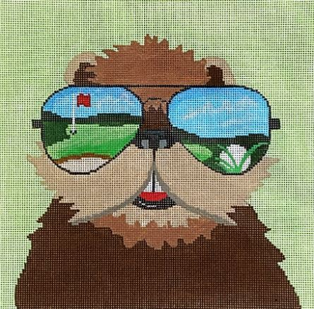 click here to view larger image of Sunglasses Gopher (hand painted canvases)