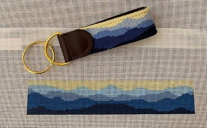 click here to view larger image of Blue Ridge Key Fob (hand painted canvases)