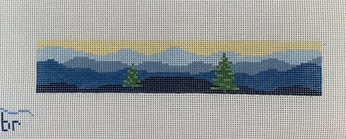 click here to view larger image of Blue Ridge w/ Trees Key Fob (hand painted canvases)