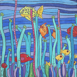 click here to view larger image of Tobago Reef (hand painted canvases)