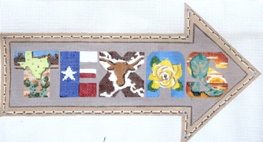 click here to view larger image of Arrow - Texas (hand painted canvases)