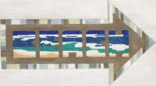 click here to view larger image of Arrow - Beach (hand painted canvases)