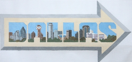click here to view larger image of Arrow - Dallas (hand painted canvases)