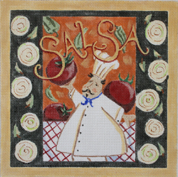 click here to view larger image of Chef - Salsa (hand painted canvases)