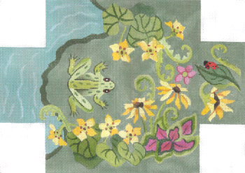 click here to view larger image of Frog Pond Brick Cover (hand painted canvases)
