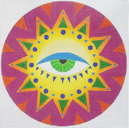 click here to view larger image of Eye Sun   (hand painted canvases)
