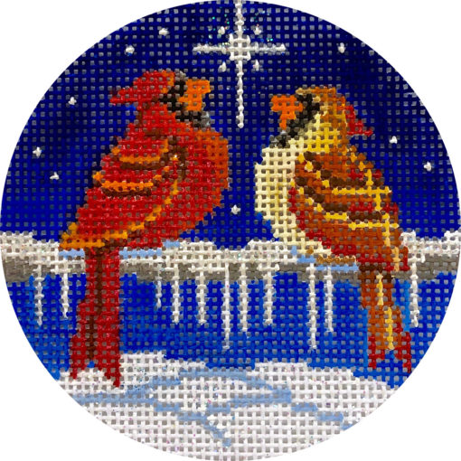 click here to view larger image of Cardinals and North Star (hand painted canvases)