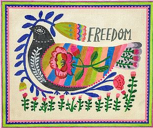 click here to view larger image of Freedom Dove    (hand painted canvases)