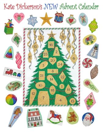 click here to view larger image of Advent Christmas Tree (hand painted canvases 2)