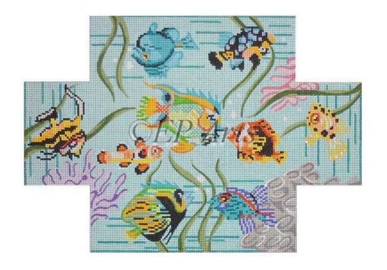 click here to view larger image of Coral Reef Fish Brick Cover (hand painted canvases)