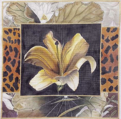 click here to view larger image of Golden Lily Collage (hand painted canvases)