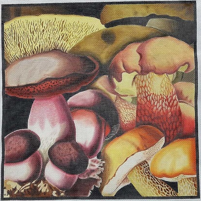 click here to view larger image of Mushroom Collage 1 (hand painted canvases)