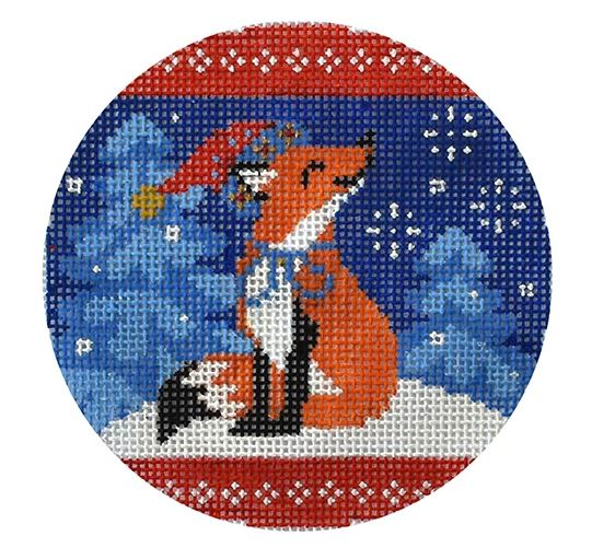 click here to view larger image of Folk Animals - Red Fox (hand painted canvases)