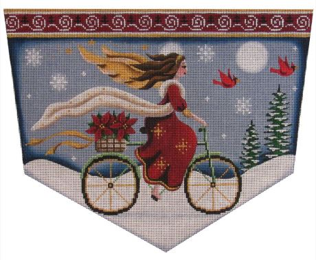 click here to view larger image of Bicycle Angel (hand painted canvases)