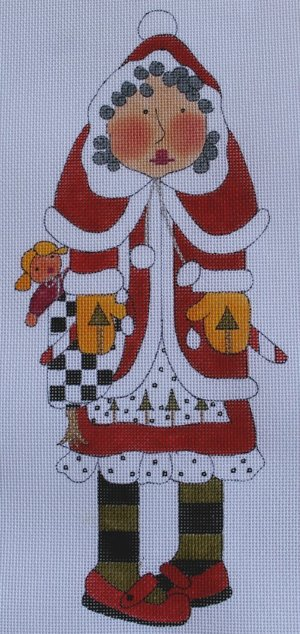 click here to view larger image of Mrs Santa Claus (hand painted canvases)