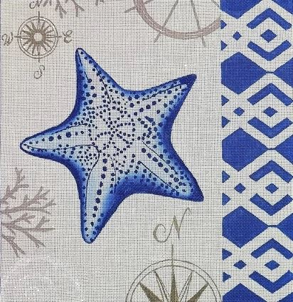 click here to view larger image of Tahitian Sea Star  (hand painted canvases)