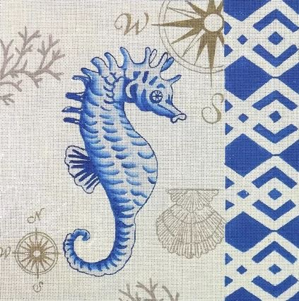 click here to view larger image of Tahitian Seahorse (hand painted canvases)