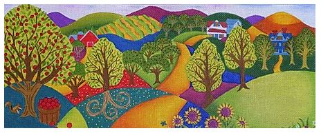 click here to view larger image of Apple Orchard Landscape (hand painted canvases)