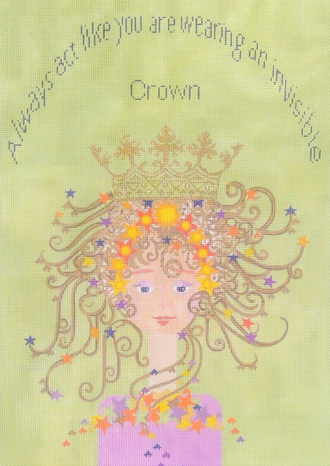 click here to view larger image of Invisible Crown (hand painted canvases)