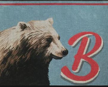 click here to view larger image of B for Bear (hand painted canvases)