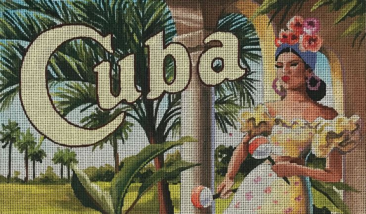 click here to view larger image of Cuba Lady (hand painted canvases)