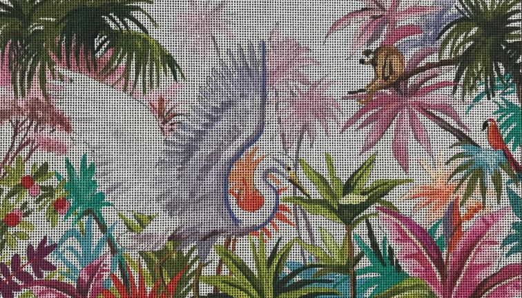 click here to view larger image of Egret in the Amazon (hand painted canvases)