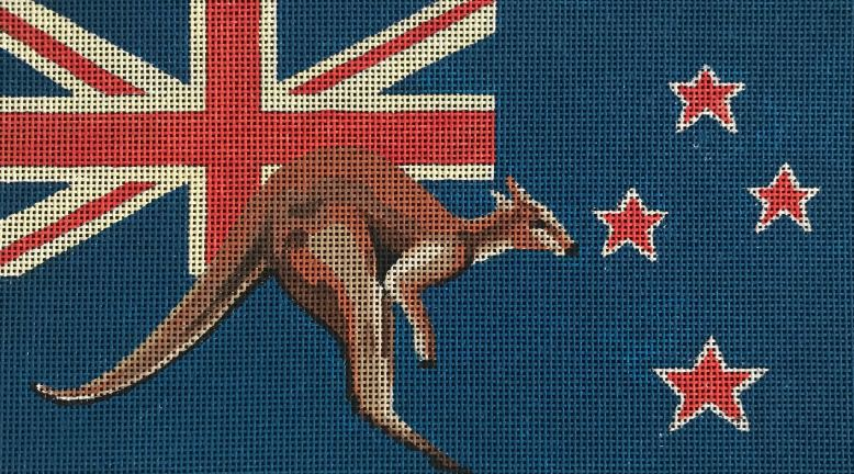 click here to view larger image of Australian Kangaroo (hand painted canvases)