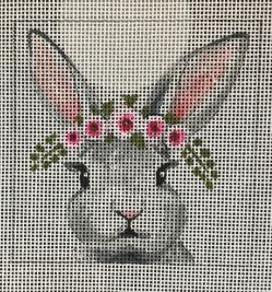click here to view larger image of Bunny w/Floral Crown (hand painted canvases)