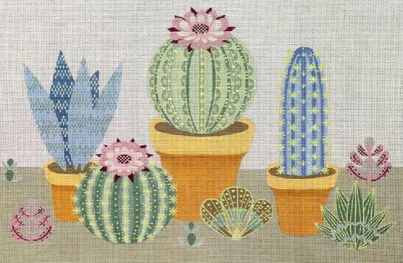 click here to view larger image of Cactus Row (hand painted canvases)