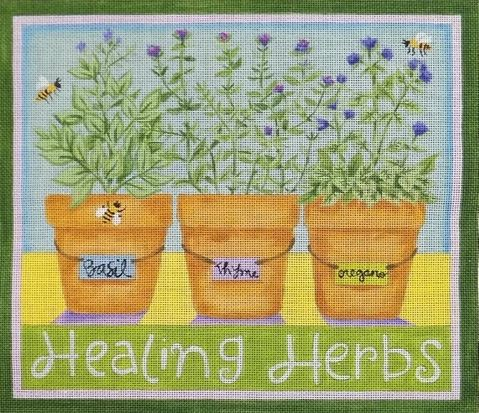 click here to view larger image of Healing Herbs (hand painted canvases)