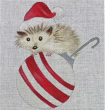 click here to view larger image of Hedgehog on Ornament (hand painted canvases)
