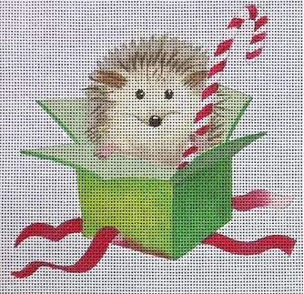 click here to view larger image of Hedgehog in Box (hand painted canvases)