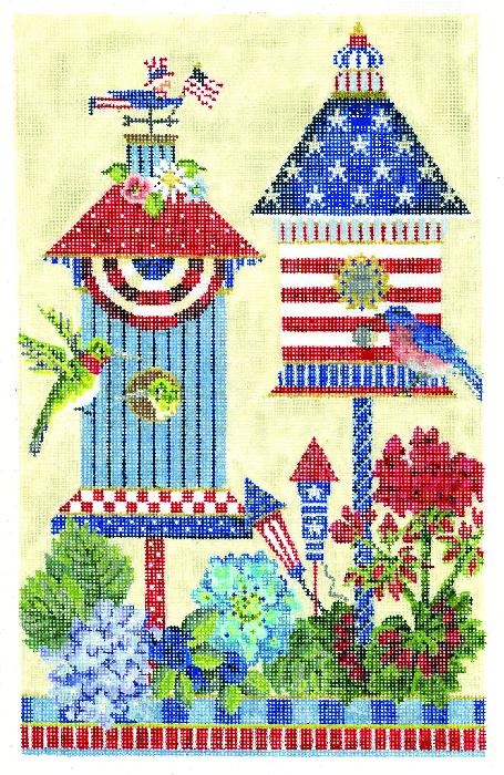 click here to view larger image of 4th of July American House (hand painted canvases)