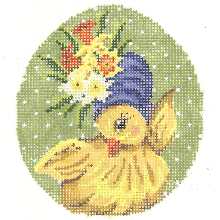 click here to view larger image of Miss Daffodil Chick Egg (hand painted canvases)