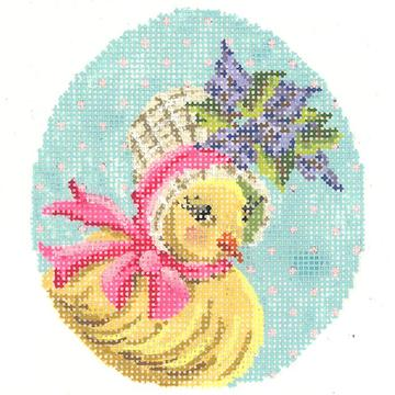 click here to view larger image of Miss Lilac Chick Egg (hand painted canvases)