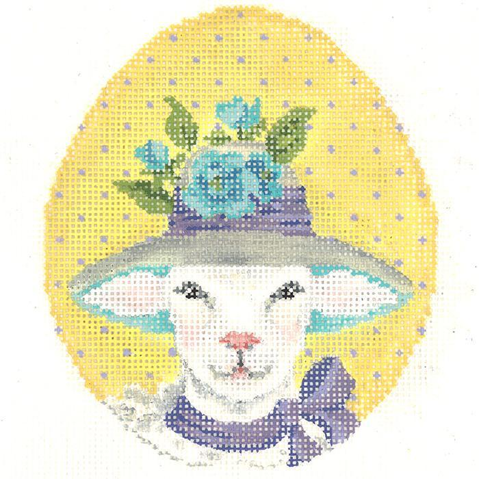 click here to view larger image of Ms Viola Lamb Egg (hand painted canvases)