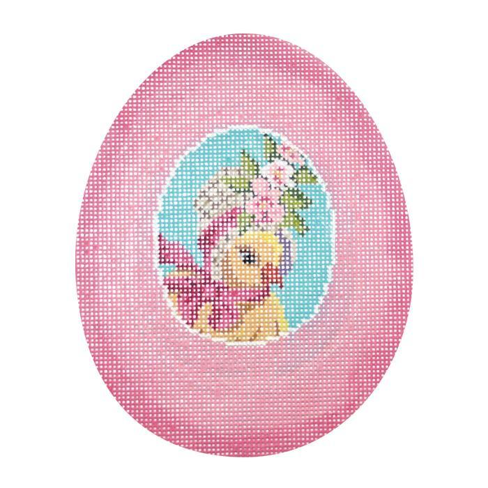 click here to view larger image of Pink Chick Sugar Egg (hand painted canvases)