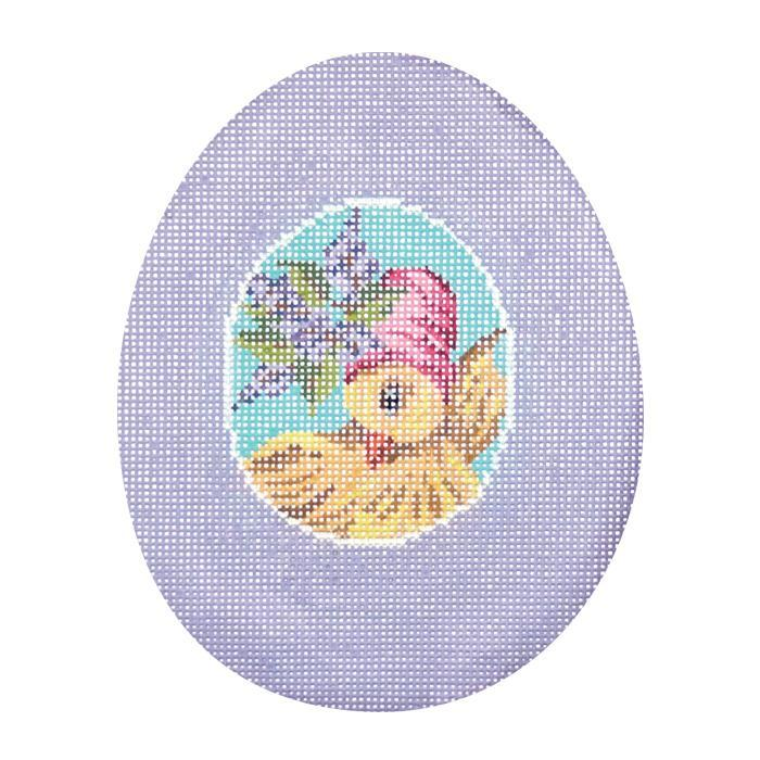 click here to view larger image of Lavender Chick Sugar Egg (hand painted canvases)