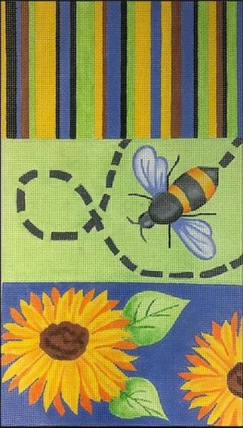 click here to view larger image of Bee Purse Tri Fold (hand painted canvases)