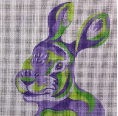 click here to view larger image of Color Block Rabbit (hand painted canvases)