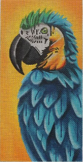 click here to view larger image of Bruce the Blue Parrot (hand painted canvases)