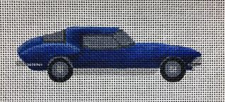 click here to view larger image of Blue Corvette (hand painted canvases)