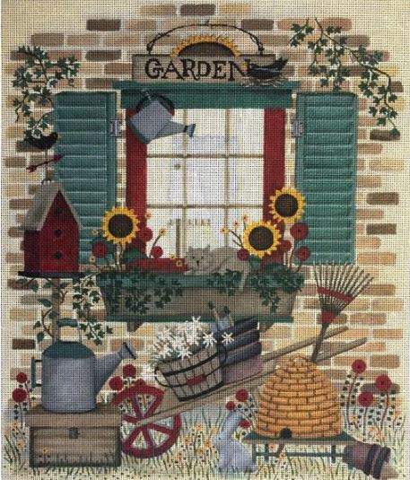 click here to view larger image of Garden Window (hand painted canvases)