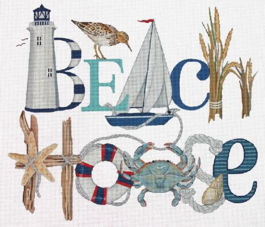 click here to view larger image of Beach House (hand painted canvases)