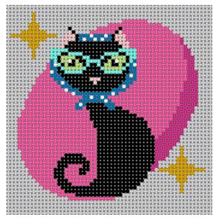 click here to view larger image of Retro Cat (hand painted canvases)
