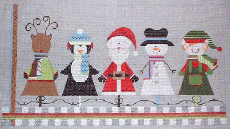 click here to view larger image of Christmas Friends (hand painted canvases)
