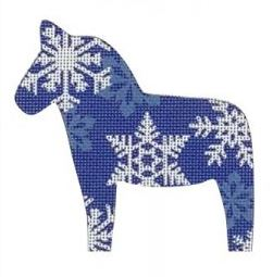 click here to view larger image of Dala Horse Snowflake (hand painted canvases)