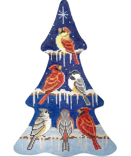 click here to view larger image of Bird Collection Christmas Tree (hand painted canvases)