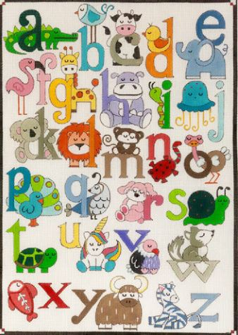 click here to view larger image of Animal Alphabet (hand painted canvases)